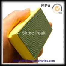 Бриллиантовая рука колодки полироль для гранита мрамора бетона