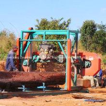Serras de fita portátil Diesel máquinas para serrar madeira Band, Serra de fita