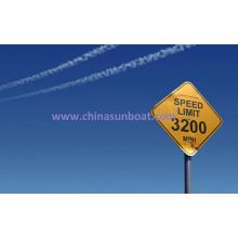 Marque d'avertissement adaptée aux besoins du Sunboat, panneau de signe d'émail
