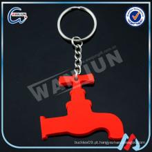 Red Faucet chaveiro de silicone 3d