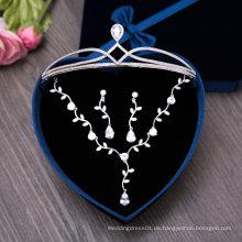 Hochzeit Crown Halskette Ohrring Ein Set