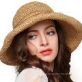 Wide Large Brim Cap Casual Summer Fashion Soft Felt Floppy Uv Protection Women Straw Hat