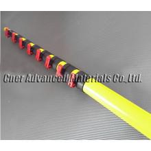 Made in China fiberglass telescoping pole 50 feet extension length, yellow fiberglass telescopic pole