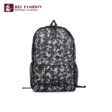 HEC High Quality Custom Green Canvas Men Day Backpack
