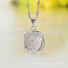 Diferentes tipos de diseño de collar de cadena larga de plata hermosa para damas SCR006 al por mayor