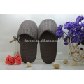 cheap soft personalized close toe chinese embroidered waffle hotel slipper