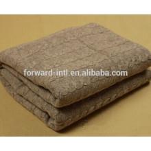 manta hecha punto de la cachemira del otoño e invierno, sola manta de cachemira cómoda suave