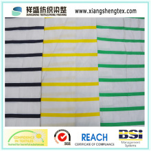 Tissu en taffetas en soie teintée de fil avec bande horizontale