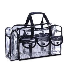 sac à bandoulière cosmétique transparent de PVC avec la tirette