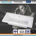 Baignoire acrylique blanche rectangulaire, articles sanitaires de baignoire