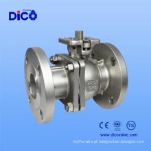 Válvula de esfera flutuante de flange de aço inoxidável 2PC de ANSI 150lb com almofada de montagem