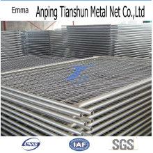 Valla de enlace de cadena de construcción temporal galvanizada sumergida caliente