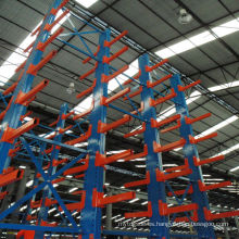 Nanjing jiangrui productos techo voladizo acero almacén estante voladizo montado en la pared
