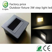 Factory price outdoor fixture 3W step light led