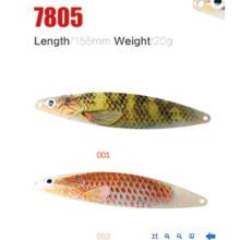 Novo modelo de iscas de colher de pesca de 20mm de 155mm