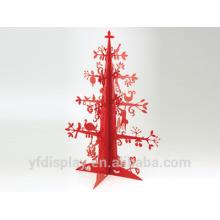 Forme d'arbre de Noël Craft de laser acrylique rouge