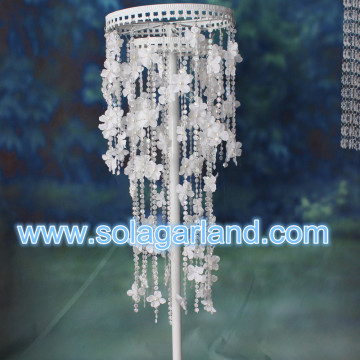 5M Satin Fleur cristal String perle guirlande mariage Table Decor