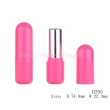 D295 Plastikrosa leere Lippenstiftröhre runde Lippenbalsambehälter