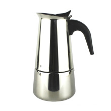 En gros fait sur commande en acier inoxydable espresso cafetière Moka Pot