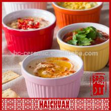 Céramique Bakeware Pet bowl Vaisselle pet bol vert