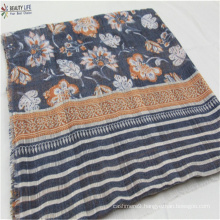 hosale women polyester&viscose fashion scarf Multiple pattern color combinations floral with multicolor Unusual fabric pattern