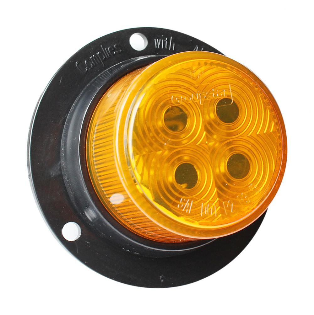 "2"" DOT 10-30V Amber LED Truck Marker Lamps"