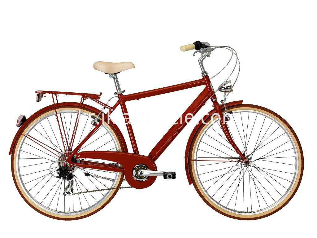 red city bicycle