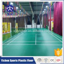 1.42m largeur pvc matière organique pas de sol de cour de badminton de formaldéhyde