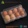 Bandeja para ovos de plástico descartável transparente PET