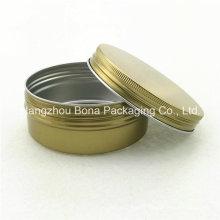Pot de peinture en pot de pot d'aluminium de pot de 150ml d'or