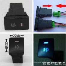 Interruptor novo do botão de Oush do interruptor da iluminação da névoa do carro Vigo para Toyota