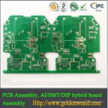 PCB OSP de 2 capas con separador de pcb con máscara de soldadura blanca