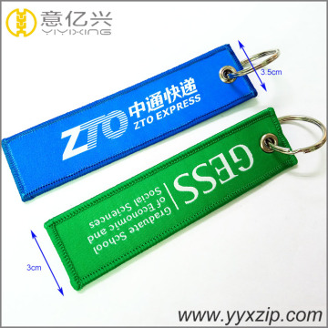 Billiga Embroidery Polyester Custom Fabric Key Rings
