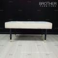 Salon meubles chambre à coucher en bois jambes tissu end fin tabouret