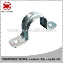 custom aluminum pipe strap without rubber liner