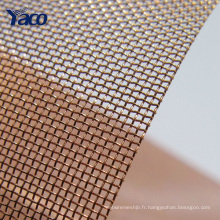 tissu de cuivre de prix de promotion, barrière de grillage de cuivre, tissu de protection d'emi
