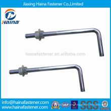 China Supplier Stainless Steel Foundation Bolt with Washer and Double Nuts
