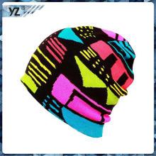 Venda quente malha slouch beanies / alta qualidade personalizadas logotipo inverno malha chapéus beanies