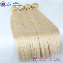 Extensões remotas do cabelo do pacote do branco de Remy do cabelo muito grosso tirado dobro