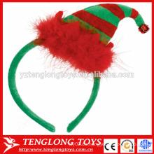 X'mas Zubehör haarige Haarspange mit Weihnachtsmütze