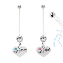 BioFlex Pregnancy Belly Ring Heart Boy&Girl