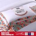 60S 330TC 173 * 156 Ensemble de literie en coton imprimé numérique