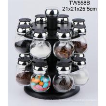 Manuelle Glasflasche mit Salzmühle / Salzschleifer / Gewürzschleifer / Pfeffermühle / Pfeffermühle