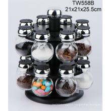 Manual Glass Bottle with Salt Mill/Salt Grinder/Spice Grinder/Pepper Grinder/Pepper Mill
