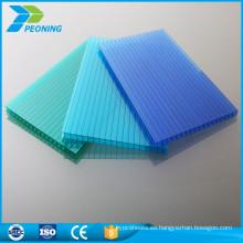 10 años de garantía de revestimiento de invernadero de policarbonato techo transparente panel de plástico al aire libre panel
