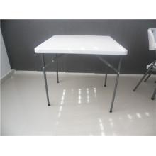 Mesa quadrada plástica de peso leve de 80 cm para uso ao ar livre