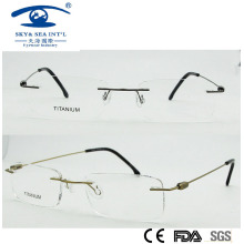 Cadre 2015 Slim Titanium Fashion Rimless Titanium Eyeglass (1016)