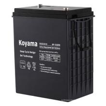 Batería de gel de ciclo profundo de alta capacidad 6V 310ah