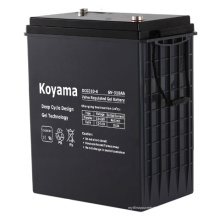 Bateria profunda 310ah do gel do ciclo da capacidade alta 6V