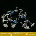 Cheap Cartilage Tragus Barbell Flower Synthetic Opal Gem Piercing Tragus
